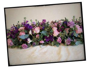 80th Birthday Floral Centrepiece