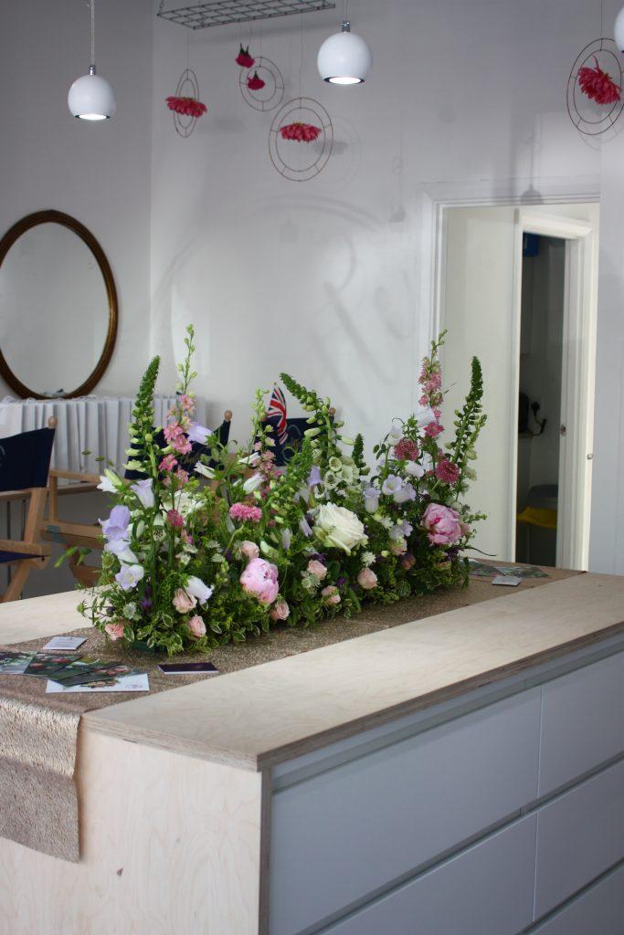 Floral Meadow Wedding Tablecentre
