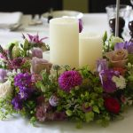 Flower and Candle Table Centre