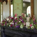 Flower and candle Fireplace