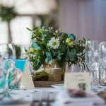 Foliage pot wedding tablecentre