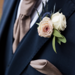 Thistle and Rose Buttonhole
