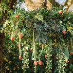 Hanging flower hoop