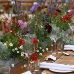 Garden flower table runners