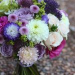 Purple mixed flower bouquet