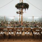 Floral hoops and table runners