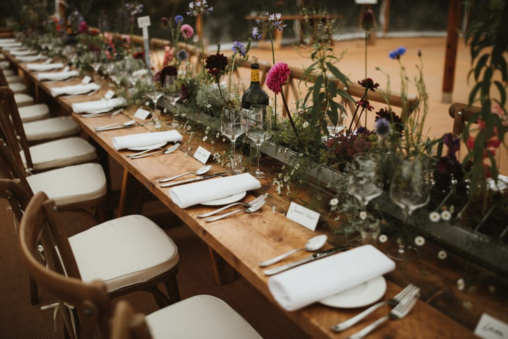 Living Wedding Table Centres