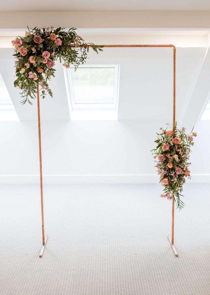 arch, wedding arch, asymmetric arch
