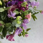 purple wedding flowers, purple bridal bouquet