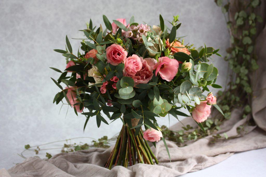 Dusky pink wedding bouquet, wedding bouquet