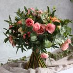 Dusky pink wedding bouquet, wedding bouquet