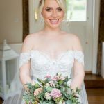 dusky pink wedding, bridal bouquet