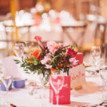 Colourful Tablecentres at Preston Court
