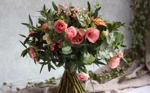 Dusky Pink wedding bouquet