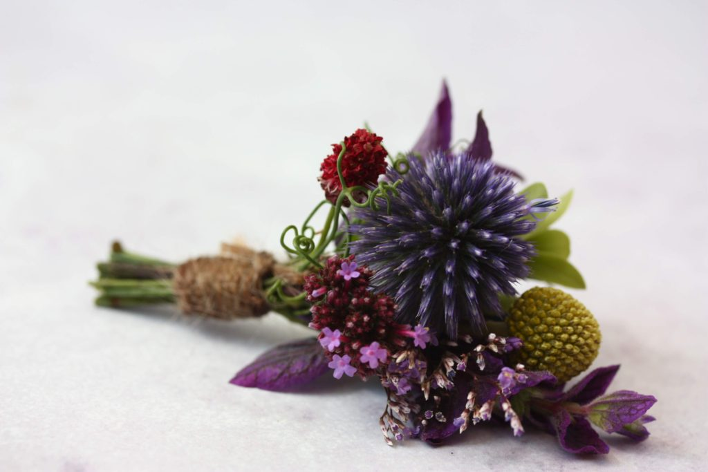 British flower buttonhole