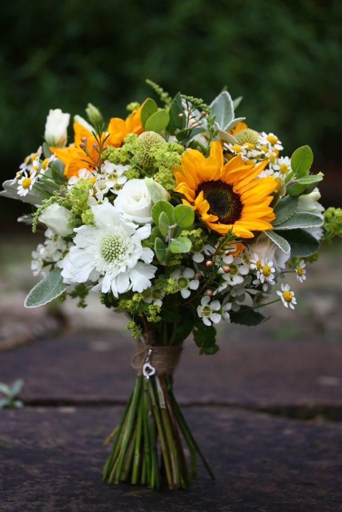 Sunflower bridal bouquet