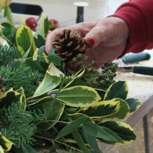 Christmas Wreath Workshops in Orpington, Kent.