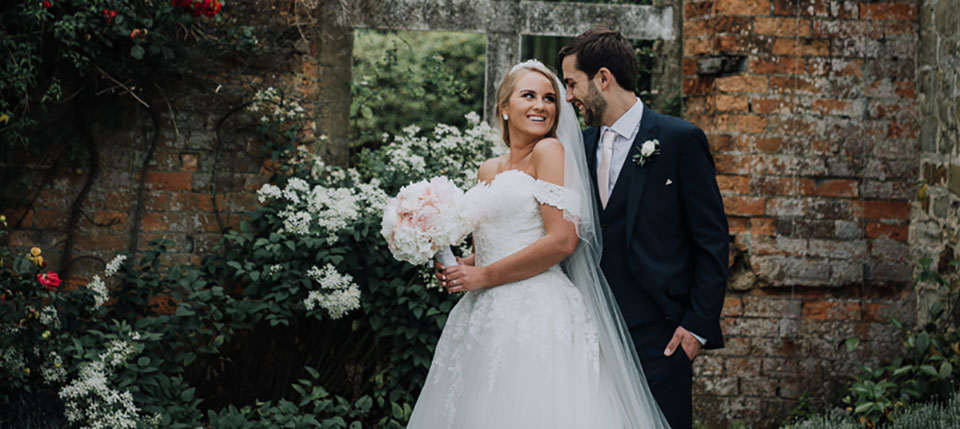 Couple married at the Falconhurst Estate, Kent.