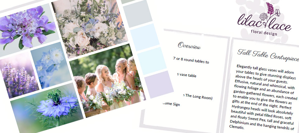 Lilac and Lace Floral Design Design Proposal for couples